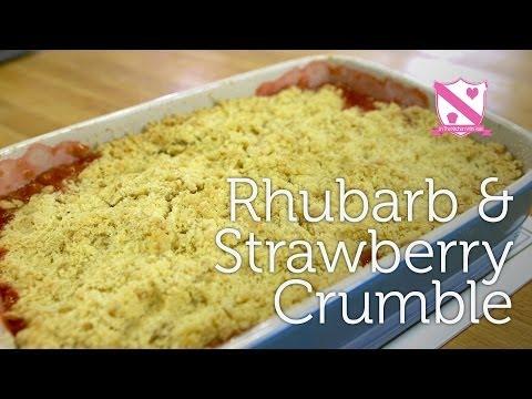 Rhubarb & Strawberry Crumble Recipe