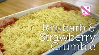 Rhubarb & Strawberry Crumble Recipe