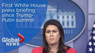 First White House press briefing since Trump-Putin meeting