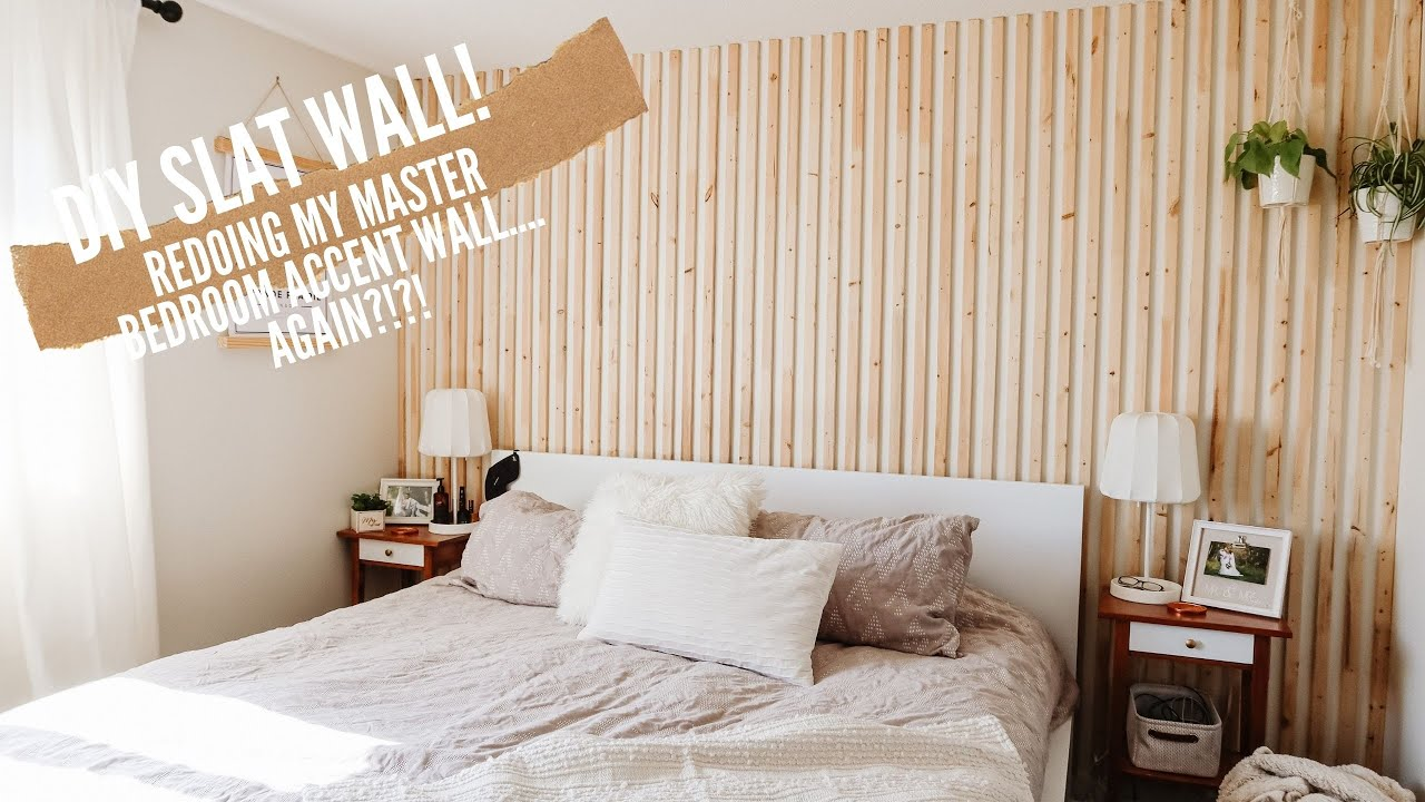 How To Build A Wood Slat Wall For Less Than 100 Easy One Day Build Youtube
