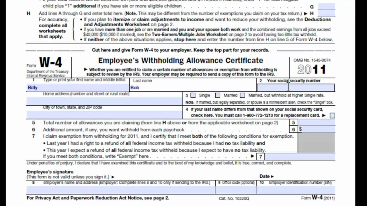 W-4 Form preparation by BusinessAccountant.com in Los ...
