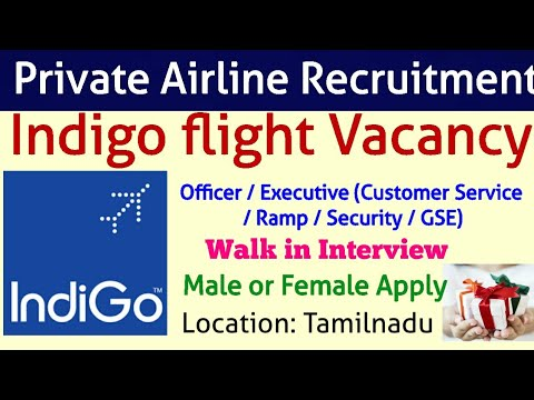 Indigo Airlines Vacancy Direct Walk in Interview