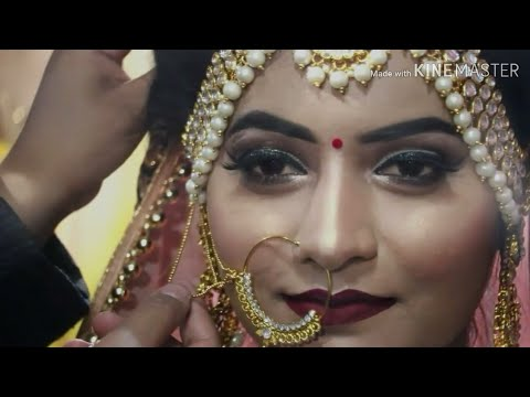 Indian bridal makeover...priti beauty parlorl