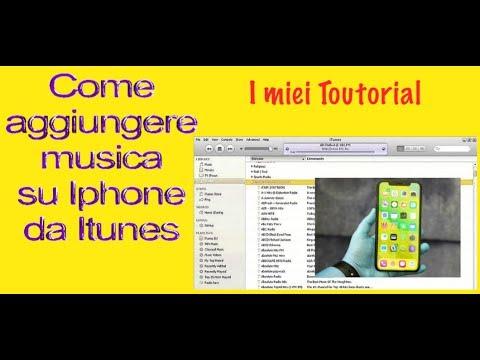 Come si mette musica 🎵 su Iphone da Pc