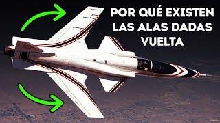 Por qué algunos aviones tienen las alas dadas vuelta