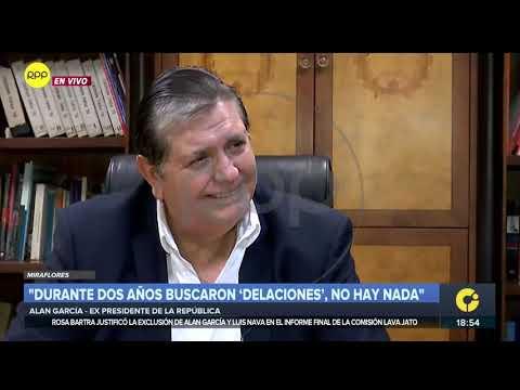 Entrevista completa | Alan García: 'Durante años buscaron 'Delaciones', no hay nada'