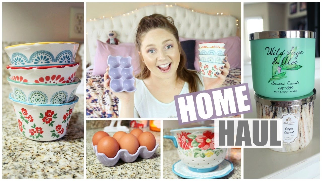Woman Home Decorating spring home haul! decor, candles & pioneer woman! | 2017 - youtube