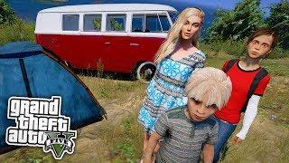 Zelten mit den Kindern! 😱 - GTA 5 Real Life Mod