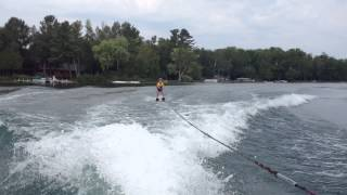 6 year old water skis for the first time