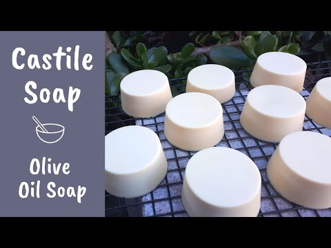Castile Soap made with 100% olive oil (the most gentle soap!) | Cold Process Soap Making