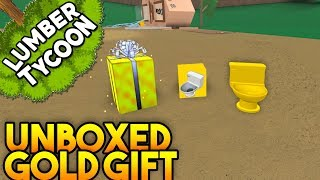 NEW Gold Present UNBOXED! | Lumber Tycoon 2 ROBLOX