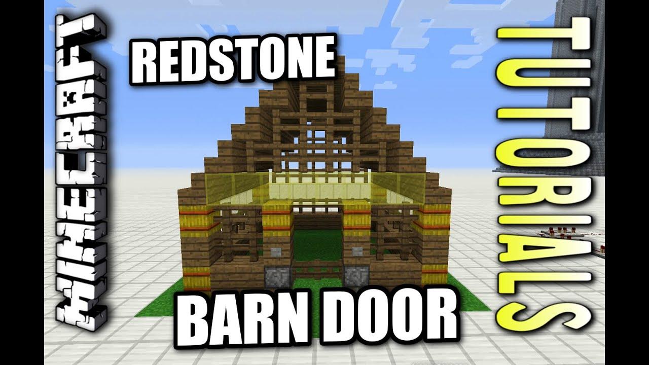 Minecraft Ps4 Redstone Barn Door How To Tutorial Ps3 Xbox