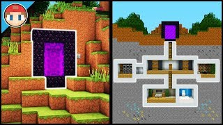 Minecraft: How to Build a Secret Base Tutorial (#6) - Easy Hidden House