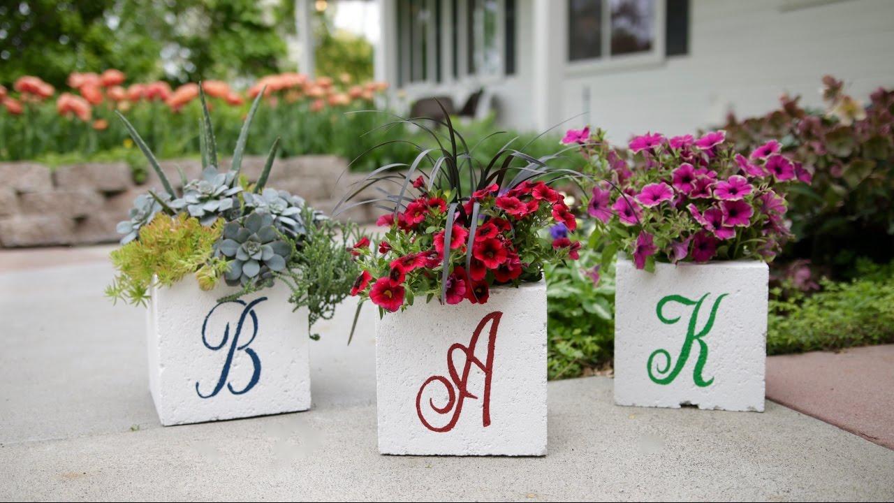Planting Flowers In Cinder Blocks  acidproof