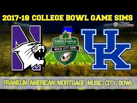 2017 Music City Bowl Sim | Northwestern vs Kentucky (NCAA Football 14 Updated Rosters)
