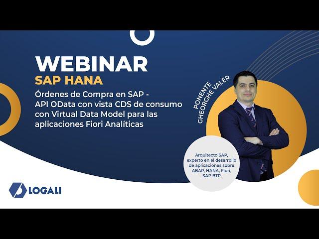 Órdenes de Compra en SAP - API OData con vista CDS de consumo con Virtual Data Model