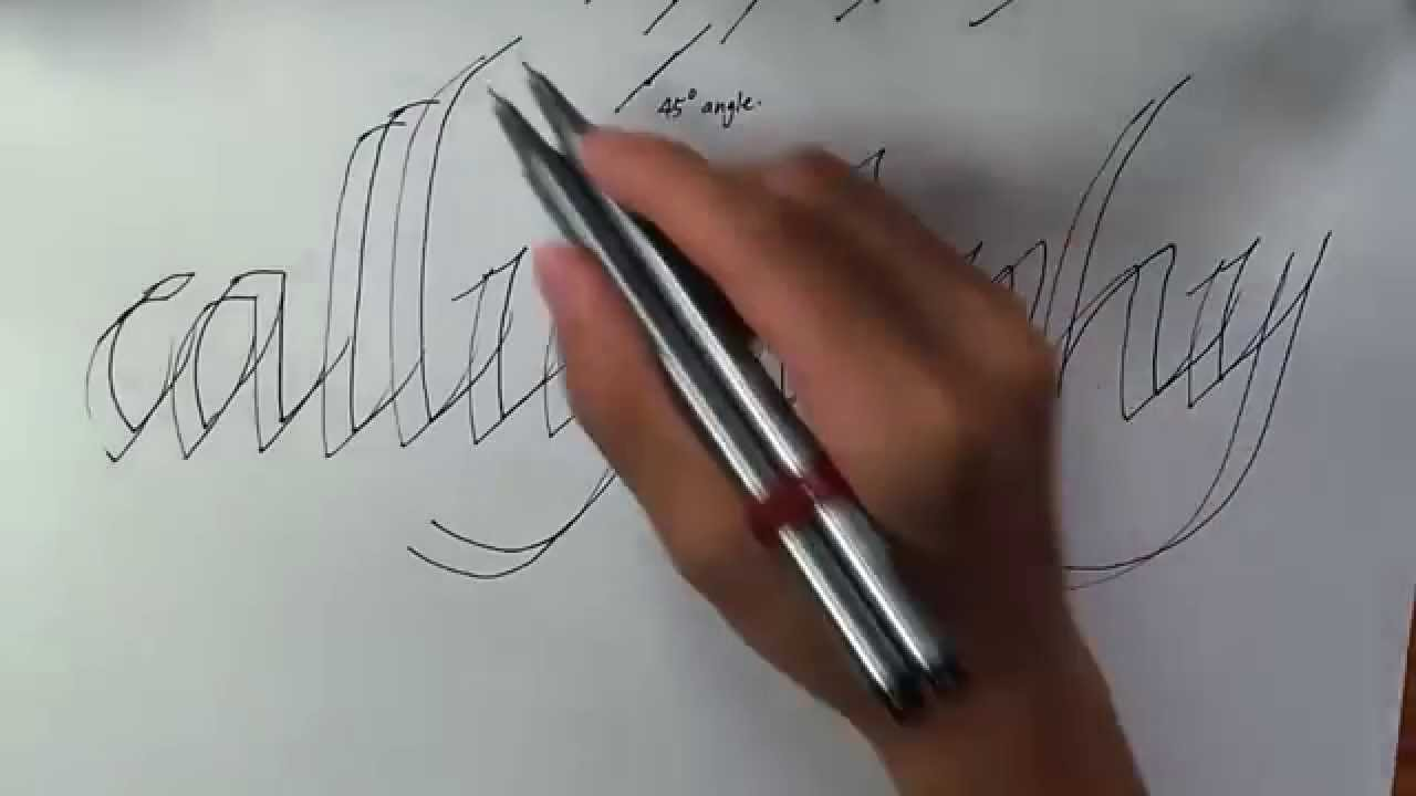How to write calligraphy with a normal pen youtube