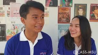 Cambodian Student Learning Thai Language at MSU