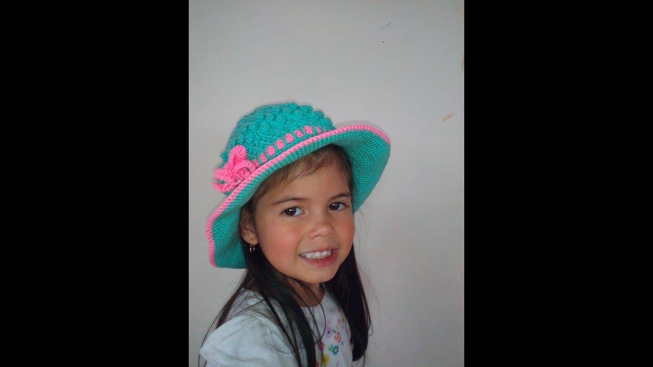 Sombrero Playero en Crochet - YouTube