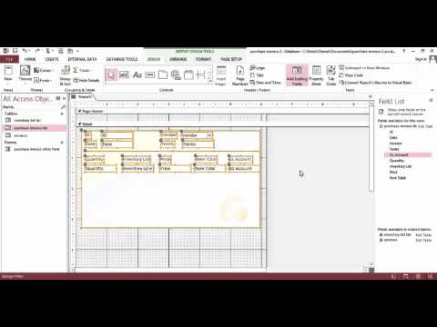 Purchases Invoice Database With MS ACCESS Part 2