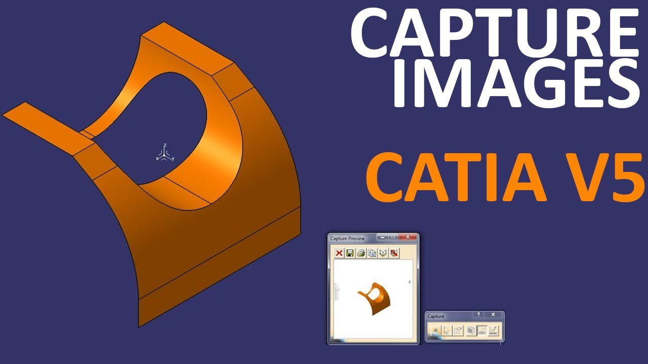 How to capture screenshots in CATIA V5