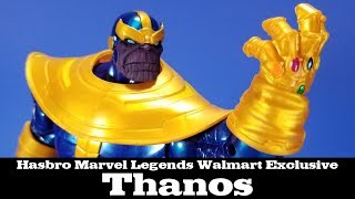 Marvel Legends Thanos Walmart Exclusive Hasbro Action Figure Review Avengers