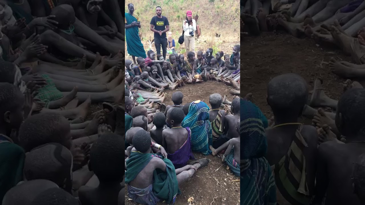 Children Sing and Dance -- Surma Village in Omo Valley