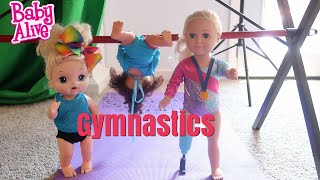 BABY ALIVE Lulu And Nikki Go To Gymnastics baby alive videos