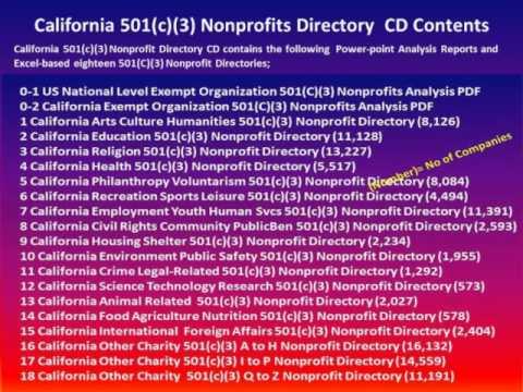 California Nonprofit 501(c)(3) Directory