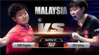 Sun Yingsha vs Zhu Yuling | T2 Diamond Malaysia (Quarter Finals)