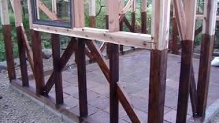 小屋作り(3坪) ハーフビルド DIY