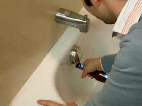 Opening beer in hotel rooms - Tub drain attempt #1