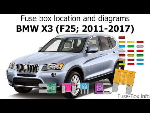 Fuse box location and diagrams: BMW X3 (F25; 2011-2017) - YouTubeYouTube