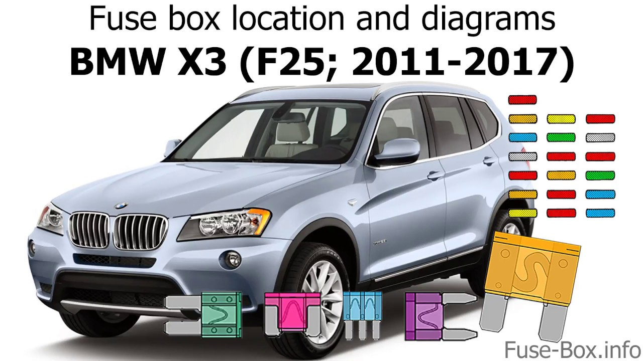 Fuse box location and diagrams: BMW X3 (F25; 2011-2017) - YouTube
