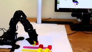 PhantomX Pincher Robot Arm - autonomously sorting objects