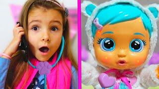 Ксюша и Арина и новая кукла Видео для девочек Как Мама