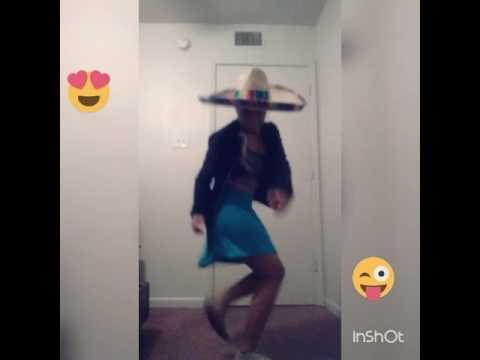 Black girl dancing to Mexican music