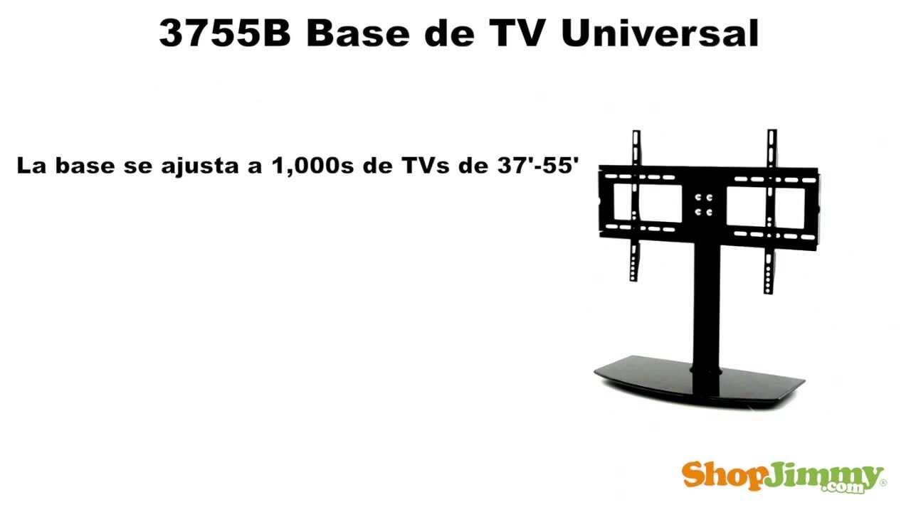 37 55 soporte tv universal base de tv universal for Soporte mesa tv samsung