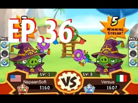 Angry Birds Fight! - MAGICIAN PIGGY - SS PIG - Level 1 to 15 - EP36