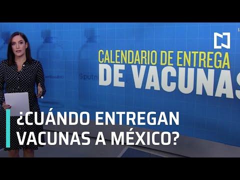 Calendario para entrega de vacunas por COVID-19 a México - Despierta