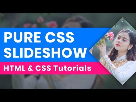 Pure CSS Image Slider In HTML:  Pure CSS Image Slideshow, CSS Animation