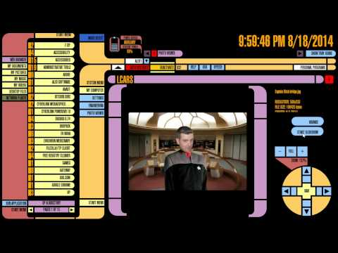 Windows 8 Star Trek Skin - LCARS