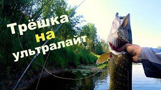 Щука 3 кг на ультралайт Спиннинг Crazy Fish Arion 1 7 г
