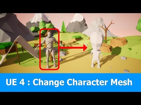 Unreal Engine Tutorial: Change Character Mesh - YouTube