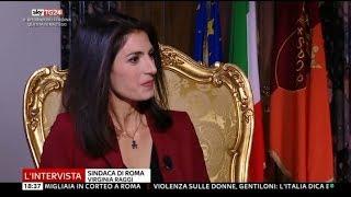 Virginia Raggi M5S (Sindaca di Roma) - Intervista a SkyTg24 - 25/11/2017