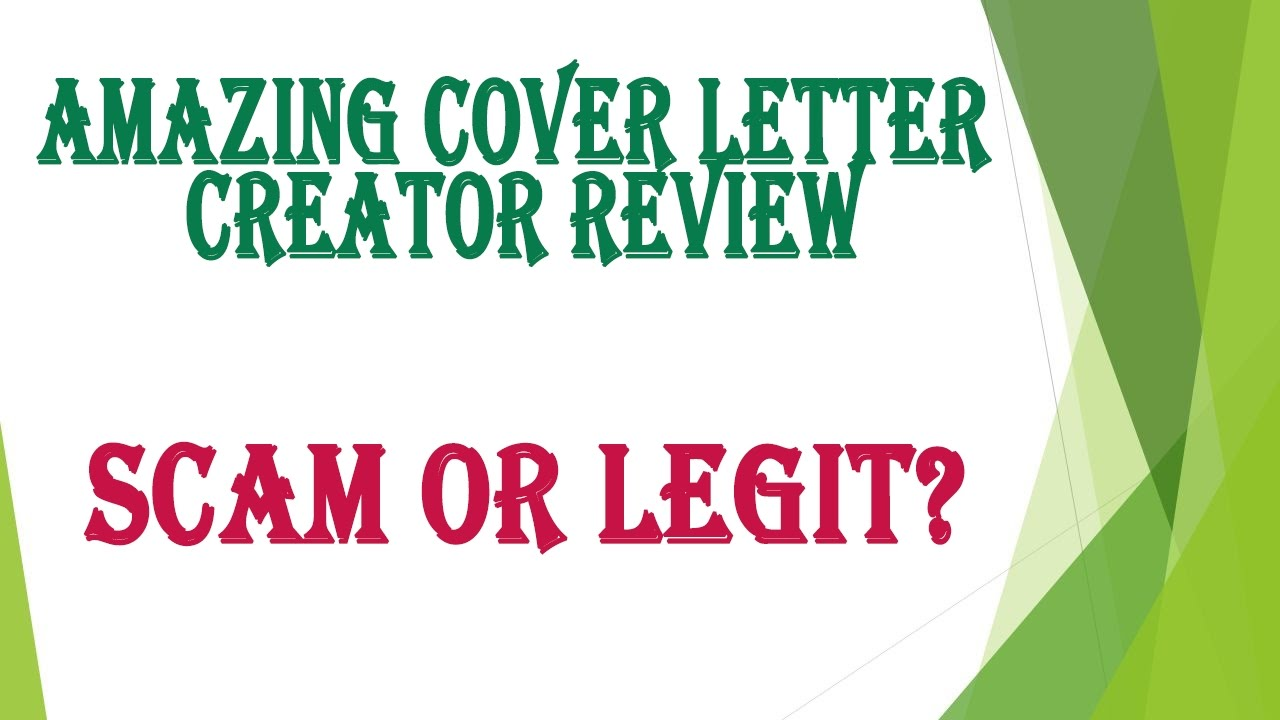 amazing cover letter creator review scam or legit