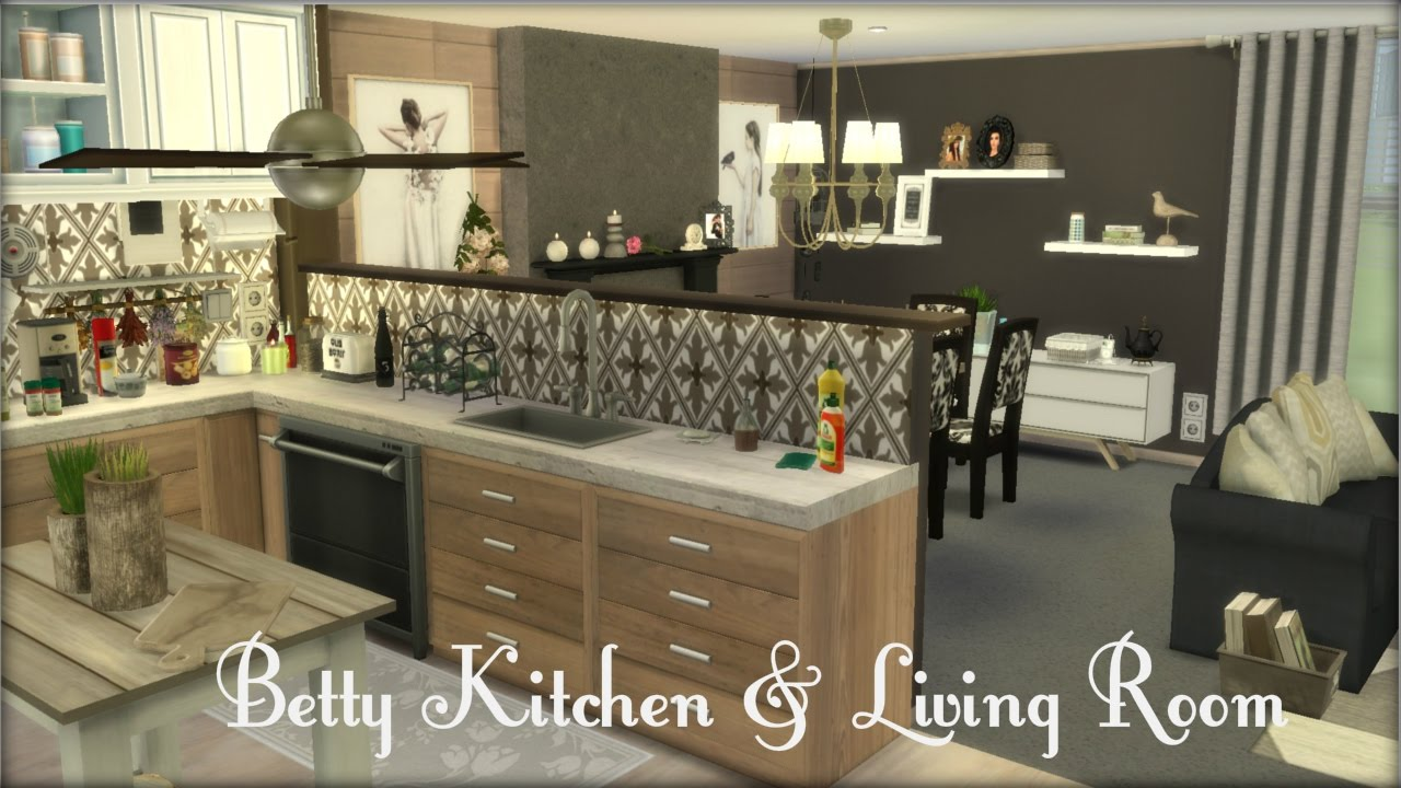 sims 3 kitchen ideas the sims 4 betty kitchen amp living room build 21712