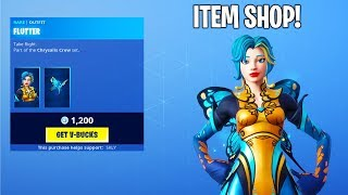 Fortnite ITEM SHOP (NEW FLUTTER SKIN & MORE!) Fortnite Battle Royale