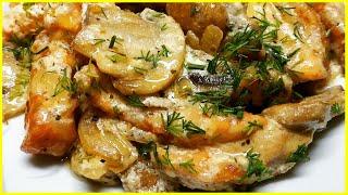 Сочное и Вкусное Куриное Филе в Сметанном Соусе