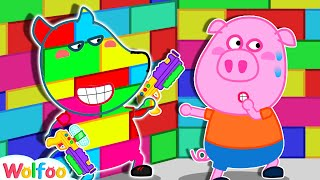 Where're You Wolfoo? - Hide in Colorful Lego Playhouse Challenge | Wolfoo Family Kids Cartoon